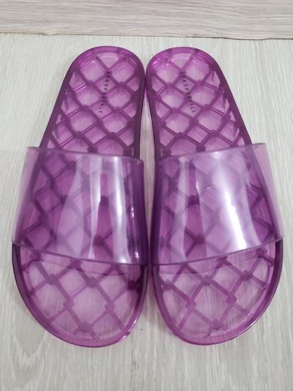 Sandália De Plástico Original Aeropostale. Tamanho 38. Roxa