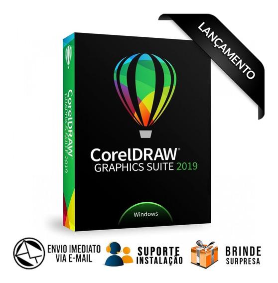 Corel Draw 2019 + Suporte Instalação + Super Pack Artes