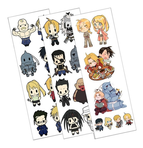 Plancha De Stickers De Anime De Full Metal Alchemist Edward