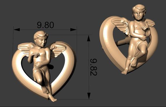 Brinco Anjo - Joias Para Impressão 3d