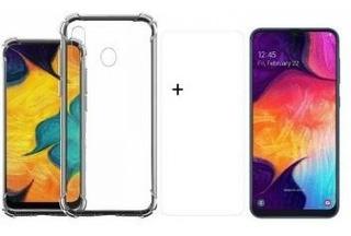 Capa Anti Shock Samsung Galaxy A30 + Película De Silicone/ge
