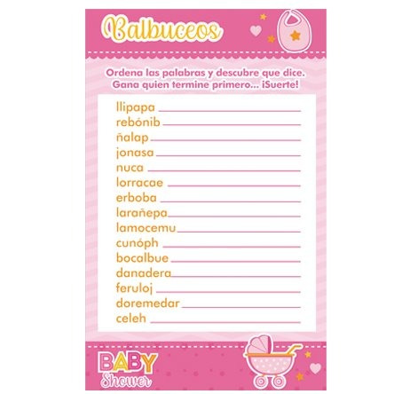 Juegos Para Baby Shower Crucigrama Con Respuestas Tengo Un Juego