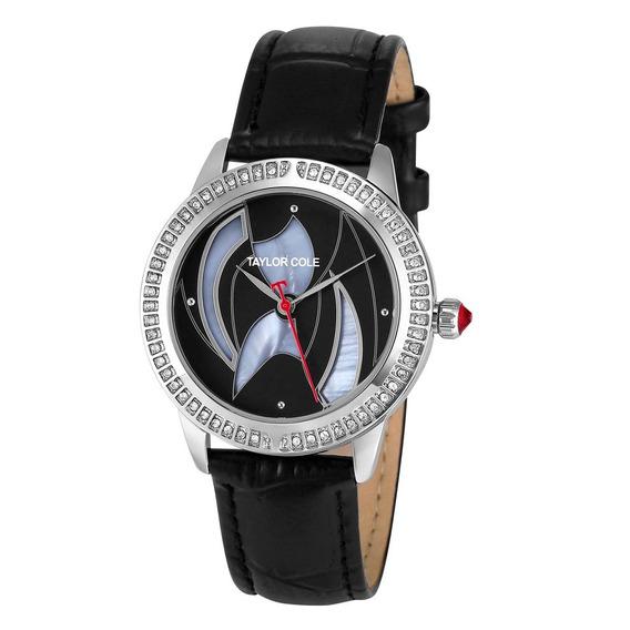 Diamante Anel Couro Cinto Quartz Relógio Simples Relógio À P