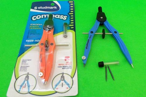 Compas Precisión Studmark De Colores Solo X Caja 12 Unidades