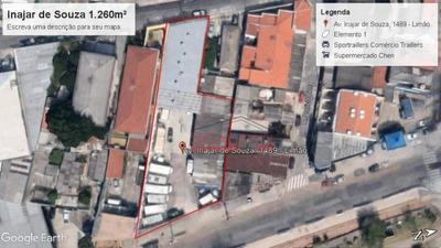 Terreno Para Alugar, 1260 M² Por R$ 29.000/mês - Limão - São Paulo/sp - Te0041