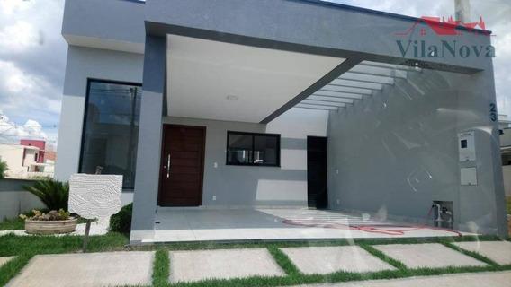 Casa Com 3 Dormitórios À Venda, 97 M² Por R$ 410.000 - Condomínio Park Real - Indaiatuba/sp - Ca0996