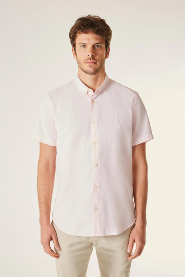 Camisa Mc Pf Oxford Color Reserva