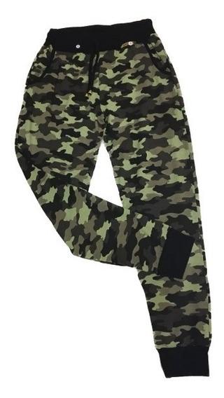 Calça Camuflada Militar Com Punho Malha Viscolycra Tamanhos