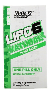 Lipo 6 Natural Base De Plantas 60 Cápsulas Nutrex Research
