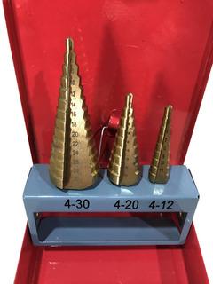 Juego 3 Mechas Escalonadas Baño Titanio 4 -30 Milímetros