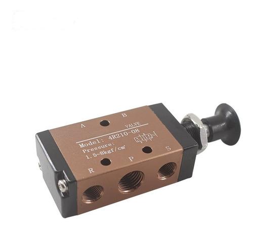 """Válvula Neumática 4R210-08 Push Pull 5 formas 2 pos 1//4/"""" BSPT /& Conector Silenciador"""