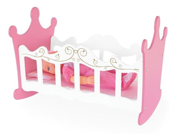 Berço De Balanço Para Bonecas Brinquedo Princesas Mdf Junges