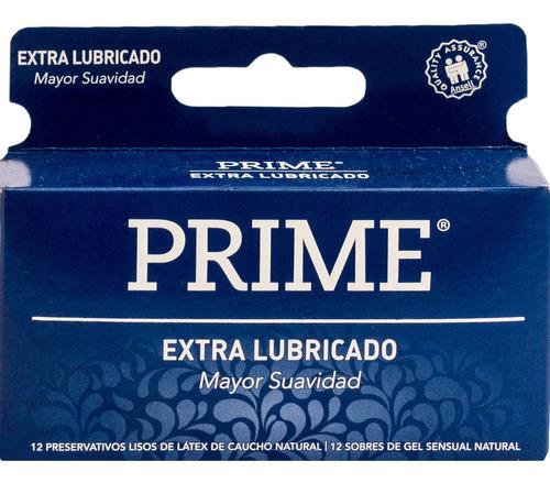 Imagen 1 de 2 de Preservativo De Látex Prime Extra Lubricado X 12 Un