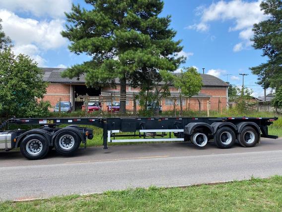 Carreta Bug Porta Container 8 Pinos Ano 2015 Com Plataforma