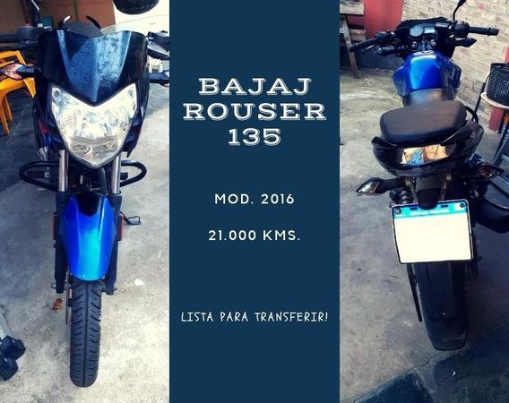 Moto Bajaj Rouser 135 - 2016 - 21.000 Kms.