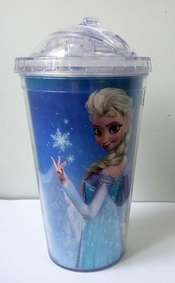 Disney Frozen Copo Com Canudo