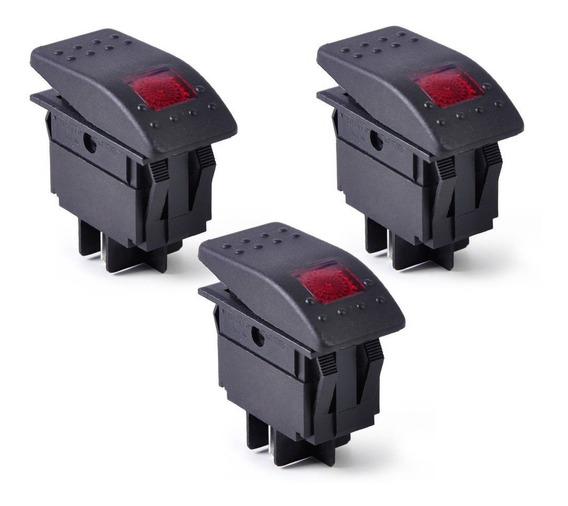 Botão Interruptor Painel De Comando 12/24v Lancha Barcos