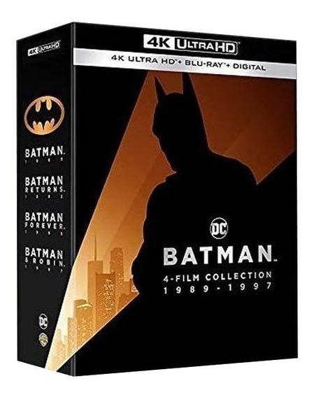 Batman 4 Film Collection 1989 - 1997 4k Ultra Hd + Blu-ray