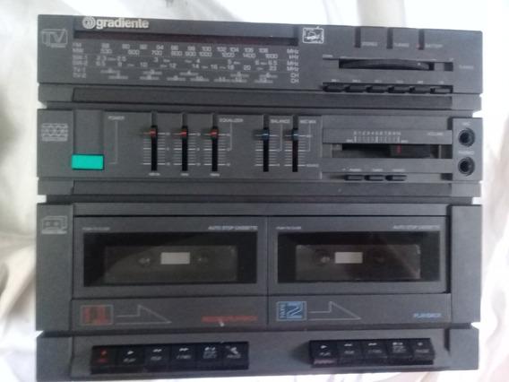 Boombox Rádio Gravador Gradiente Cs-5 Equalizador 2 Decks