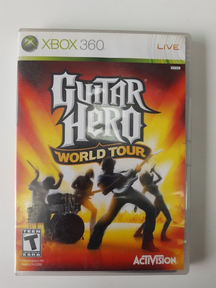 Guitar Hero World Tour Xbox 360 Original Mídia Física