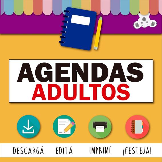 Kit Agendas 2019 2020 Editables Imprimibles Adultos