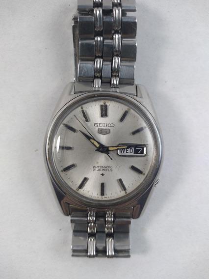 Relógio Seiko Automatic 21 Jewels Prateado Masculino Perfeit