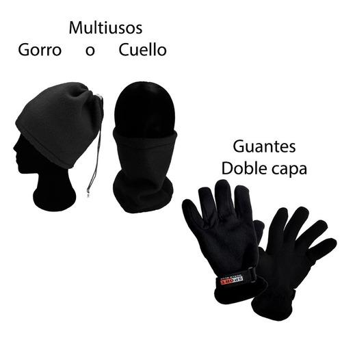 1gorro O Cuello  Bandana  1 Guantes Fleece  Hombre Termico