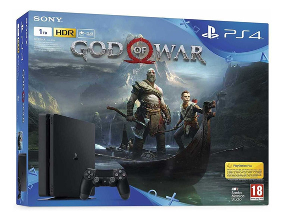 Playstation 4 Slim 1tb God Of War 4 + Fifa 20 Ps4 Cyber Week