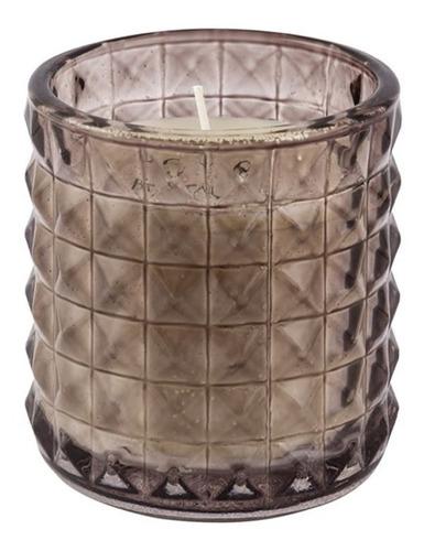 Vela Perfumada Aromática Decorativa Copo Vidro Diamond Fumê
