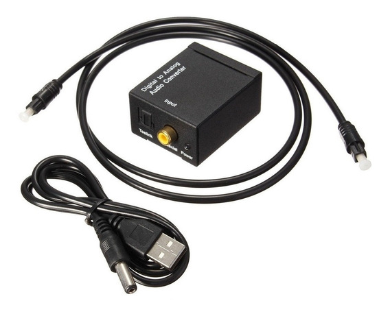 Convertidor Audio Optico A Rca Con Cable Incluido Tv