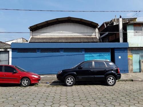 Galpão À Venda, 336 M² Por R$ 550.000 - Vila Nossa Senhora De Fátima - São Vicente/sp - Ga0154