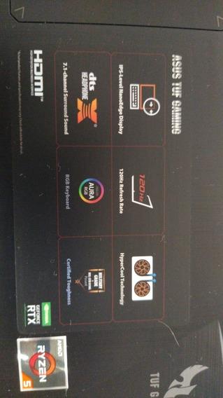 Notebook Gamer Asus Tuf Fx505dv Ryzen 3550h Rtx 2060 6gb 16g