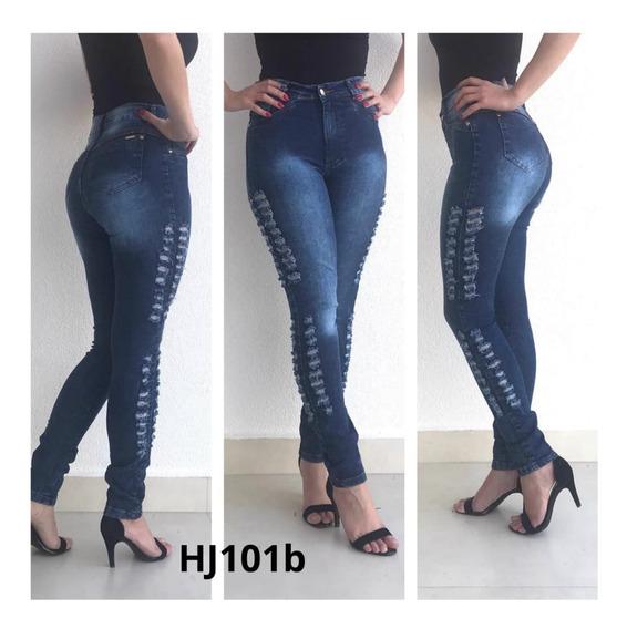 Calça Jeans Feminina Cintura Alta Levanta Bumbum Com Lycra Oferta Lançamento!