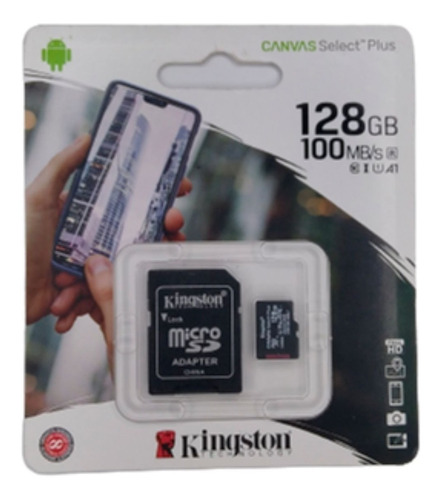 Memoria Micro Sd Kingston 128gb 100mb/s Original Canvas