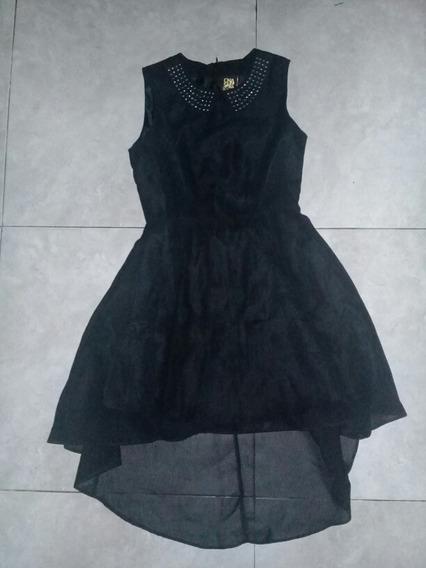 Vestido Negro De Fiesta Talle 13-14 Años Ona Saez Kids