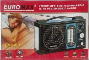 Radio Portatil 10 Bandas Euromax Em-5051