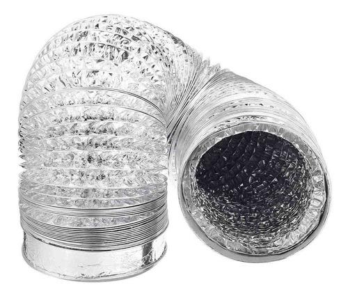 Ducto Aluminio Flexible Ventilación Extracción 100mm. 10mts