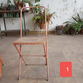 Sillas Chapa Plegable Vintage