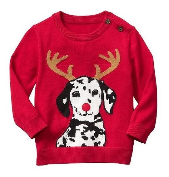Sueter Gap Infantil Menino Blusa Frio Canguru Sweater Natal