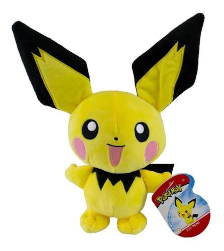 Imagem 1 de 4 de Pelúcia Pokémon - Figura Pichu 18cm - Wct Sunny Licenciada