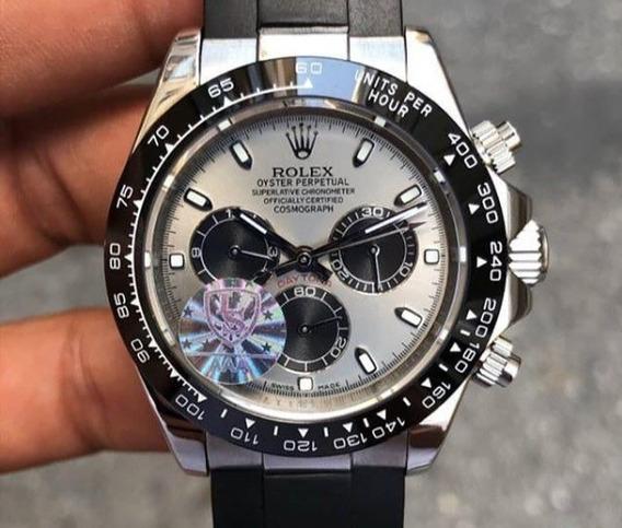 Relógio Daytona Pulseira De Borracha 40mm