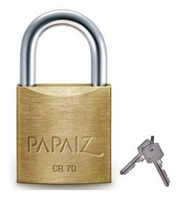 Cadeado Papaiz Cr70 De 70mm Com 2 Chaves