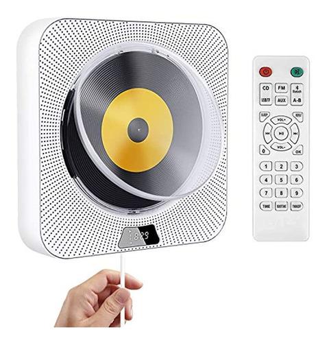 Imagen 1 de 7 de Discmans Portátil Con Bluetooth Y Pantalla Led, Color Blanco