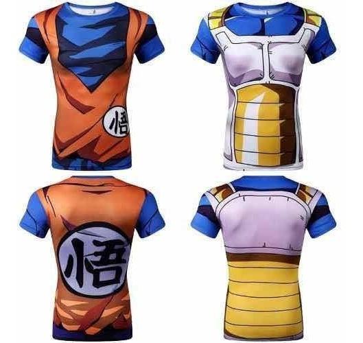 Set 2 Pack Gym Goku Vegeta 2 Playeras Dragon Ball Paquete!