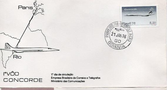 Fdc 1976 - 1º Vôo Comercial Concorde Paris/rio - Selos #095