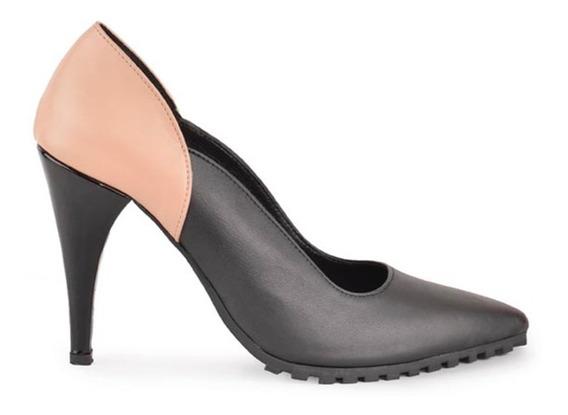 Zapatos De Mujer Stiletto De Cuero Hematite - Ferraro -