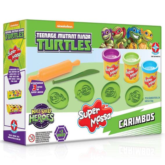 Brinquedos Massa Modelar Tartarugas Ninja Estrela Original