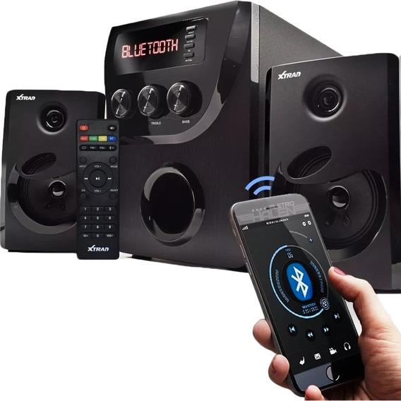 Micro System Caixa De Som 2.1 Bluetooth 1000w Bivolt Xtrad