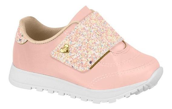 Tênis Bebê Molekinha Glitter Rosa - Frete Grátis