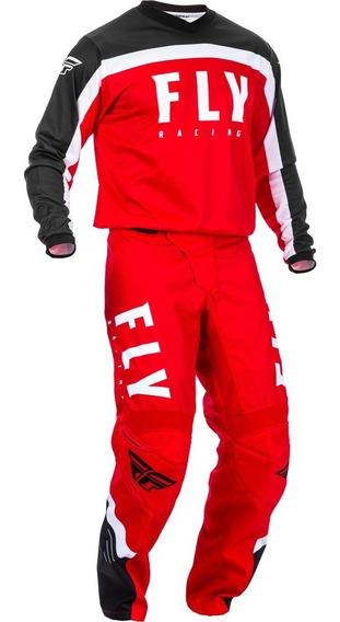 Conjunto Calça Camisa Fly Cross Vermelho Motocross Trilha